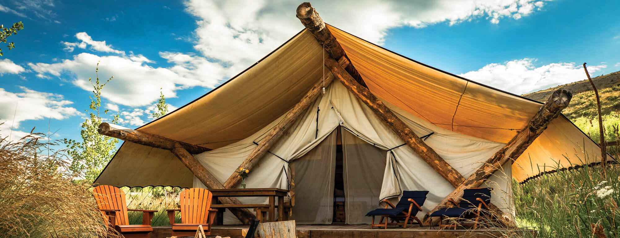Wagons + Tents + Shower Houses = Glamping Resort